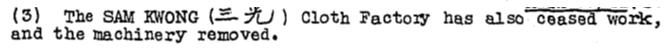Sam Kwong Cloth Factory KWIZ#77 15.12.44