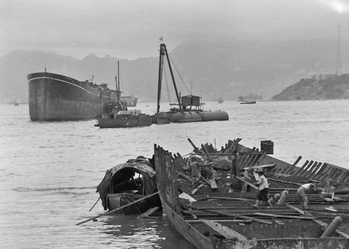 Ship breaking Cheung Sha Wan on foreshore undated IDJ