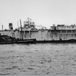 Admiralty Floating Dock No.18 - in HK 1945 to 1955