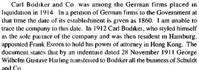 Carl Bodiker and Company German speaking HKBRAS