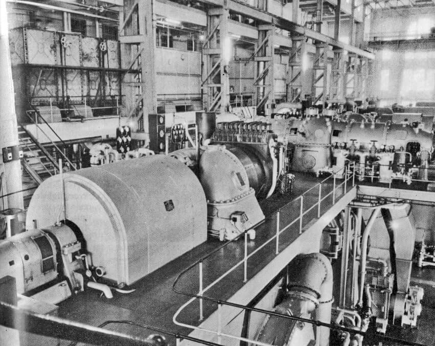 Hong Kong Electric -North_Point_Power_Station-Turbine_Generator_Hall-1955