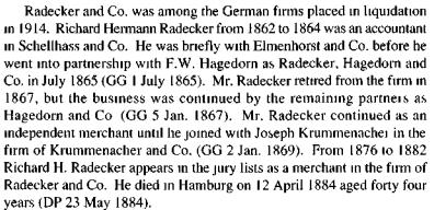 Radecker, Hagedorn and Company German speaking HKBRAS