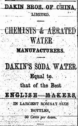 Dakin Bros Of China Ltd Chemists & Aerated Water Advert China Mail 4.10.1891
