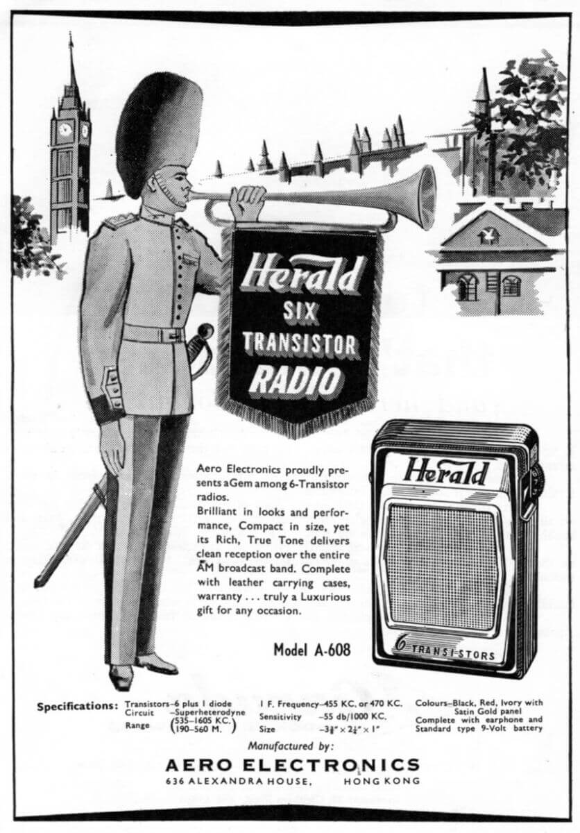Transistor Radio Manufacturers In Hong Kong The Industrial History A Century Of Electronics Aero 1963 Advert Radio2 Idj