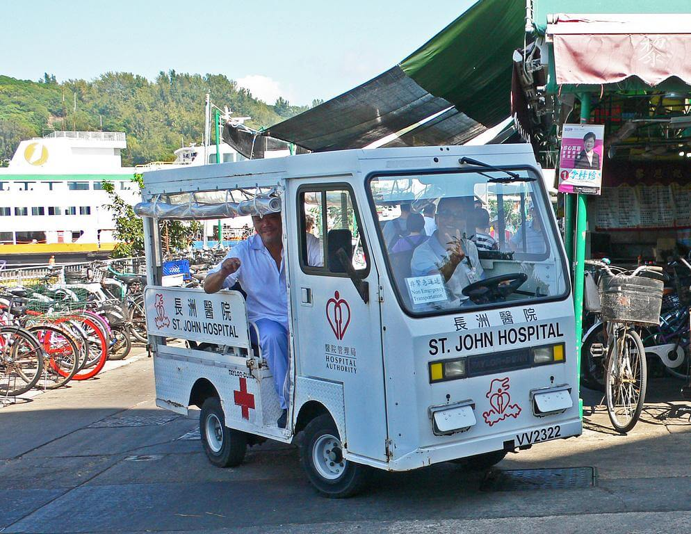 Village Vehicle Cheung Chau -TAYLOR-DUNN-ambulance a IDJ