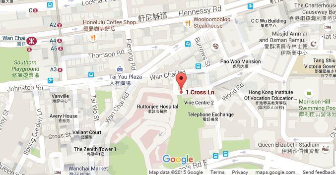 Wanchai Machinery Godowns and Engineering Establishment 1 Cross Lane, Google Map