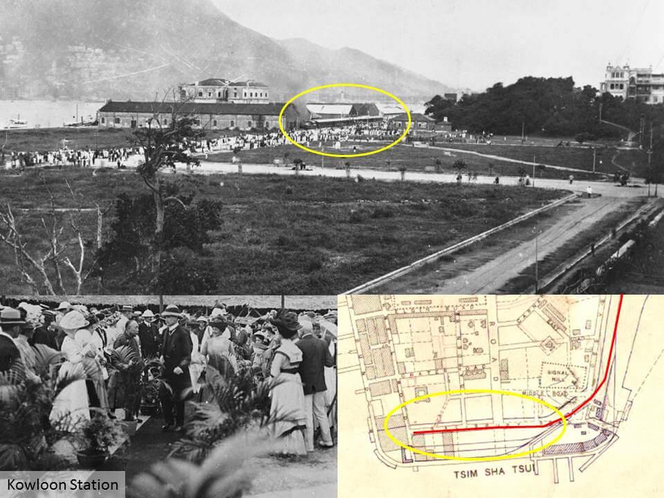 in the adjacent godown belonging to the hong kong u0026 kowloon wharf u0026 godown company and mat sheds temporary railway tracks were laid along