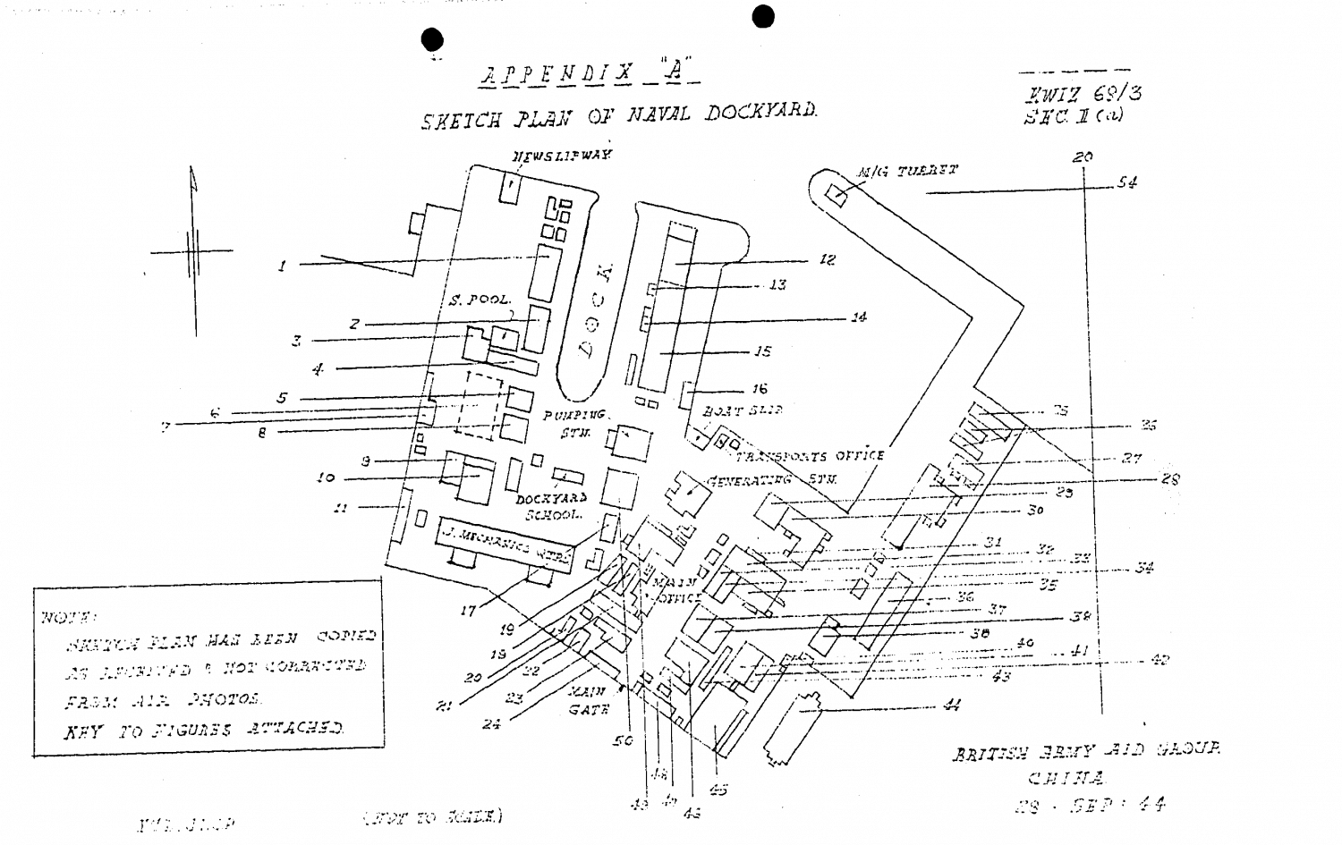 Royal Naval Dockyard map Sept 1944 BAAG