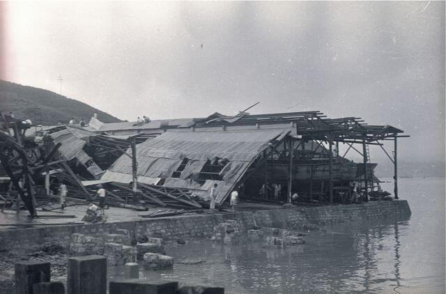 American Marine Shipyard -Typhoon Wanda damage b