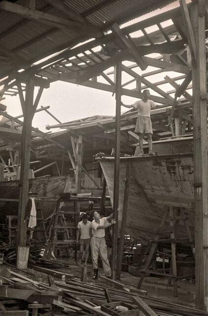 American Marine Shipyard -Typhoon Wanda damage c