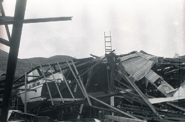 American Marine Shipyard -Typhoon Wanda damage d