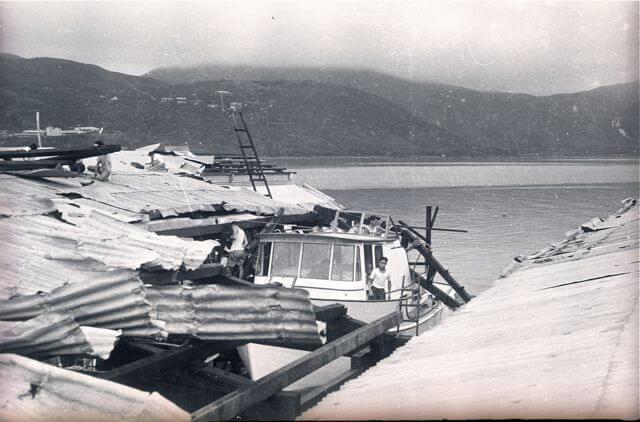 American Marine Shipyard -Typhoon Wanda damage e