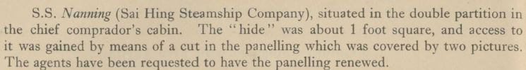 Nanning SS 'hide' extract in Chief Compradore's cabin SDavies unknown source