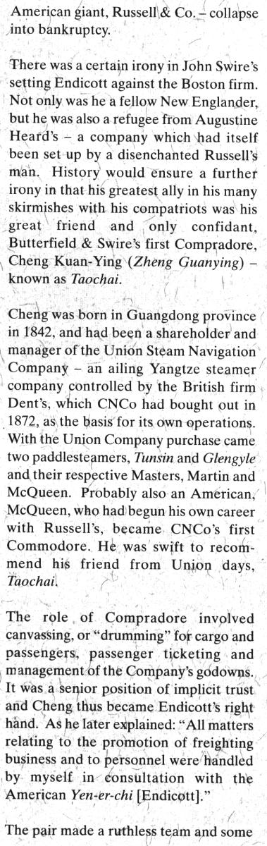 China Navigation Co, HB Endicott a SwireNews IDJ 03