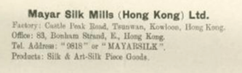 Maya Silk Mills (HK) Ltd, Caption Below Image Of Stall 7th Exhibition Of Chinese Products 1949 50 HK Memory