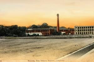 Nanyang Brothers Tobacco, undated postcard of factory flikr IDJ