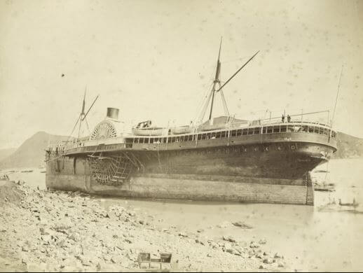 SS Alaska image after 1874 Typhoon Wikipedia Photo by Lai Afong