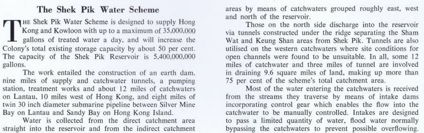 Shek Pik Water Scheme Report, PWD, Nov 1963 script a
