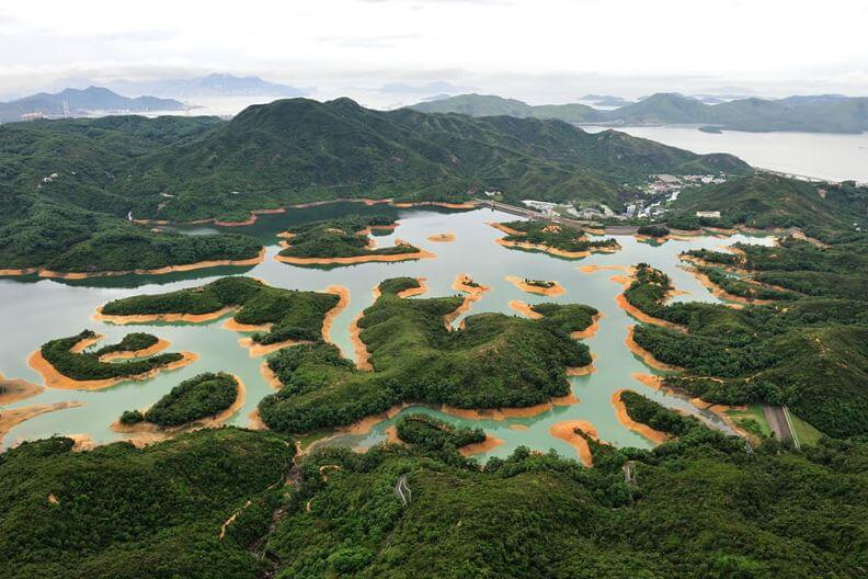 Tai Lam Chung Reservoir snipped image Courtesy - WSD