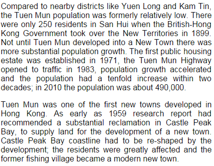 Tuen Mun new town development www. greenpower.org.hk