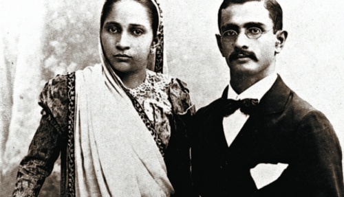 Jehangir Ruttonjee and his wife Banoo