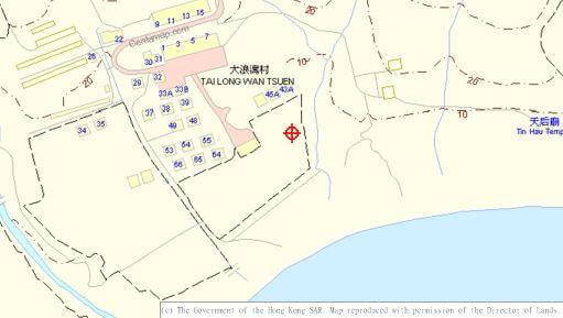 Tai Long Wan village. Shek Pik reservoir, Centamap a