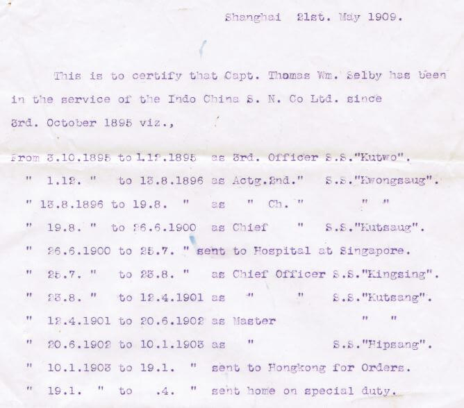 Thomas Selby ship service Indo-China SS Company enlarged a