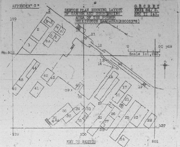 Camber at Wellington Barracks dockyard sketch
