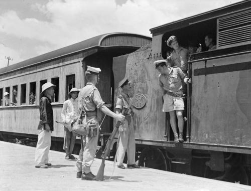 1945 29 Sep First Train