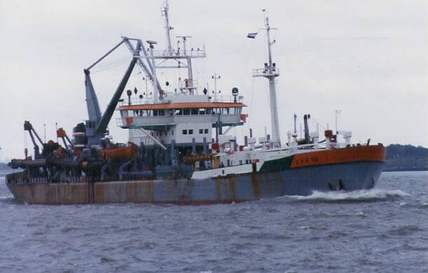 HAM dredger 308 image from dredgepoint website