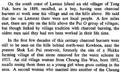 Charcoal Burning in HK RASHKB Vol 11 (1971) James Hayes c