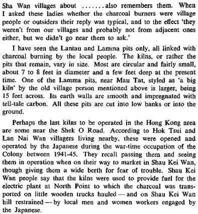 Charcoal Burning in HK RASHKB Vol 11 (1971) James Hayes d