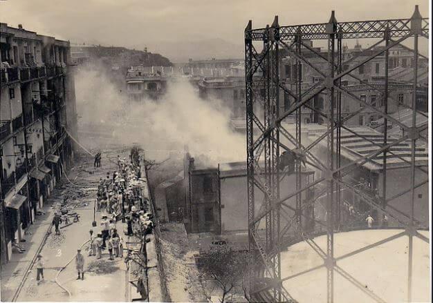 Hong Kong & China Gas Company explosion 14.5.1934 flikr image