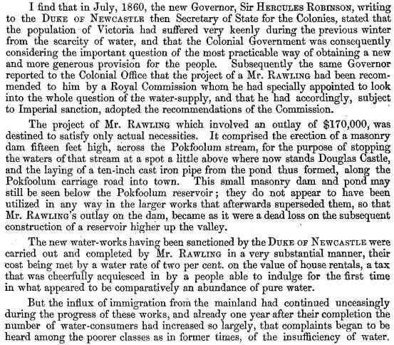 Surveyor General's Report on the Tytam Water-works 1885 b