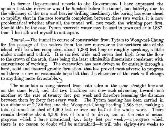 Surveyor General's Report on the Tytam Water-works 1885 mm