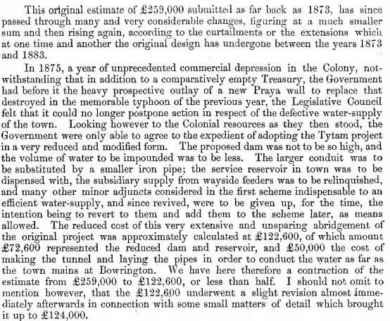 Surveyor General's Report on the Tytam Water-works 1885 t
