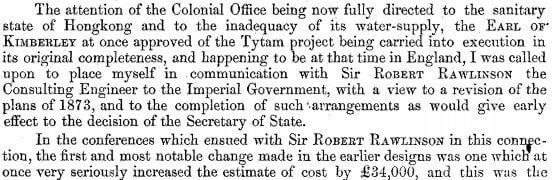 Surveyor General's Report on the Tytam Water-works 1885 v