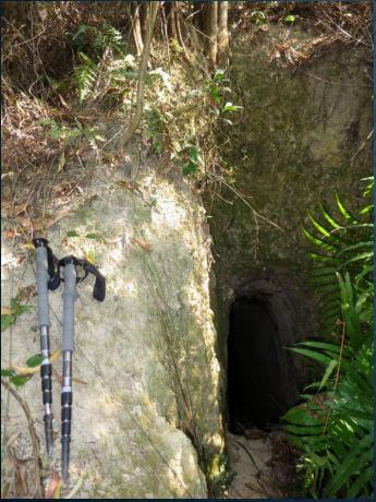 Devil's Peak Foxhole located at the north of DP. HK Mining History Chu + Chan
