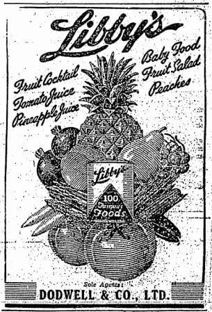 Dodwell & Co Advert HK Sunday Herald 29.10.1950