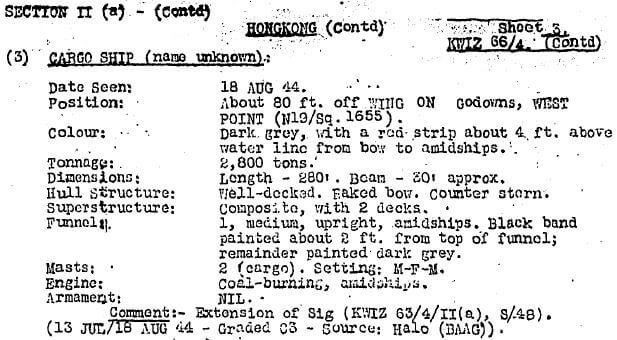 BAAG KWIZ #66 3 Cargo Ship Name Unknown
