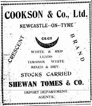 Cookson & Company Ltd, Paint, Advert, HK Telegraph 31.5.1924