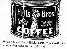 Getz Bros & Company, Advert For Hills Bros Coffee, HK Telegraph 31.5.1924