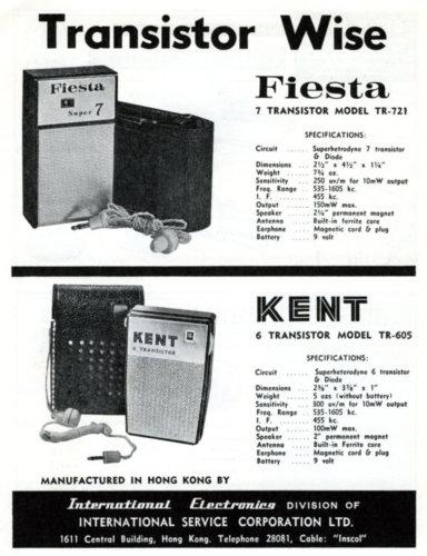 International Service Corporation 1963 Advert Transistor Radio From IDJ