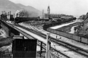 KCR Steam Locomotive Leaving Kowloon Terminus 1917 KCR Website
