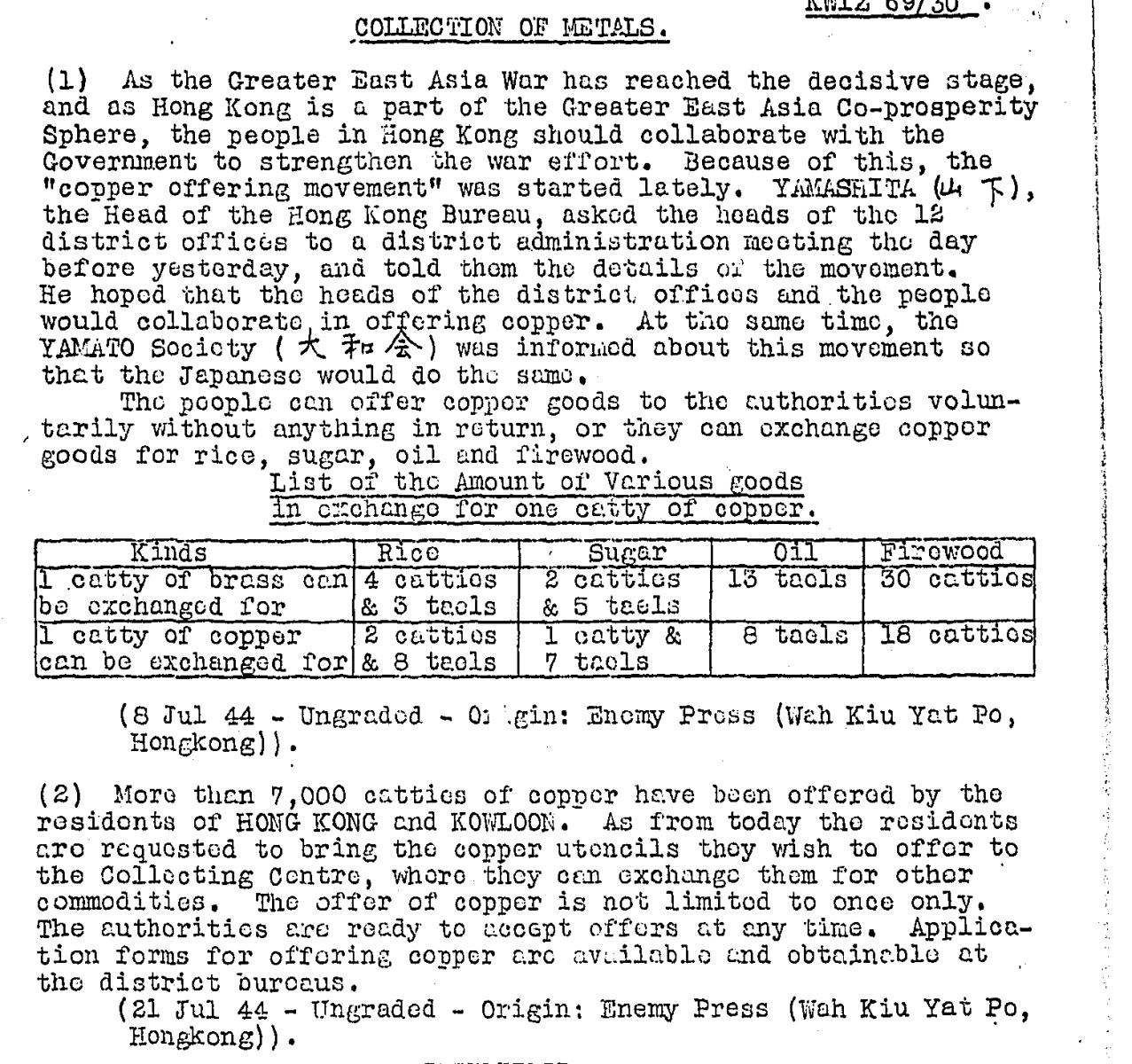 BAAG Report KWIZ #69 6.10.44