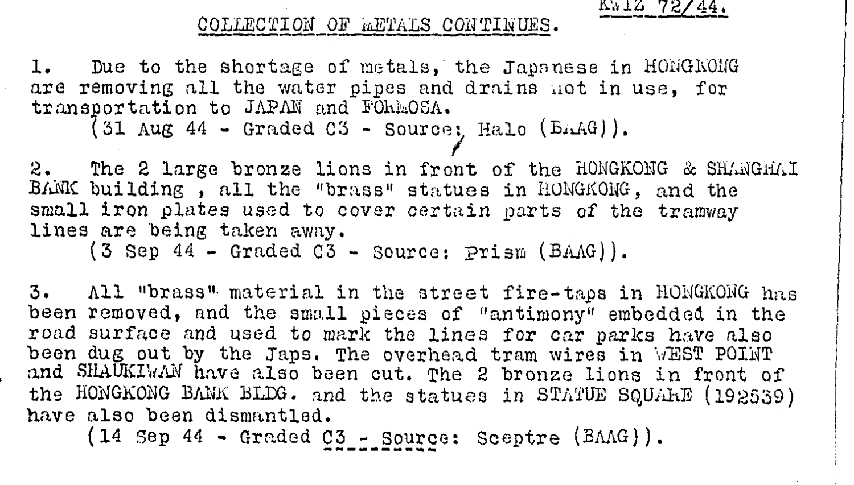 BAAG Report KWIZ #72 27.10.44