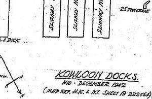 BAAG WIS#15 30.12.42 Detail Map Of Kowloon Docks