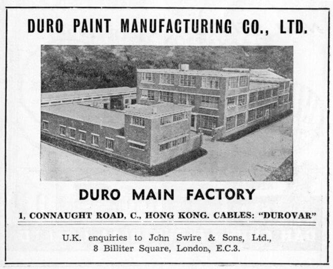 Duro Paint Manufacturing Co Ltd-manufacturer-advert-1953