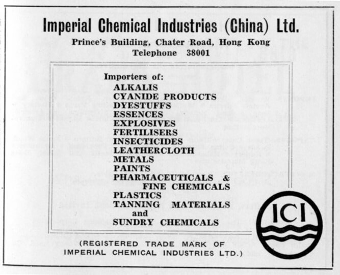 Imperial Chemical Industries China Ltd-agent-advert-1953