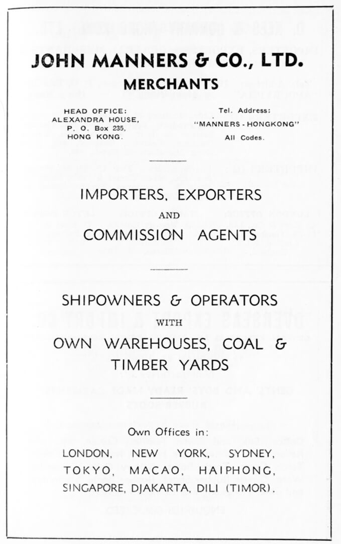 John Manners & Co Ltd-agent-advert-1953